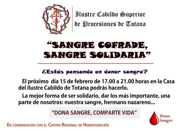 La iniciativa Sangre cofrade, sangre solidaria tendrá lugar el próximo 15 de febrero, Foto 2
