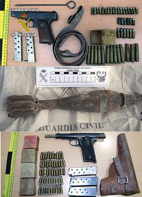 La Guardia Civil detiene a cuatro personas por tenencia y tráfico ilícito de armas en en Totana y Alhama de Murcia, Foto 2
