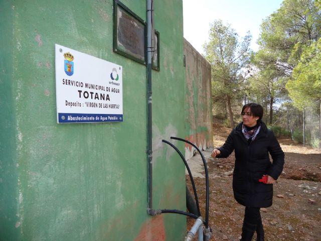 Realizan operaciones de mantenimiento en el depósito regulador de agua potable Virgen de las Huertas, Foto 1