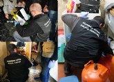 La Guardia Civil detiene a cuatro personas por tenencia y tr�fico il�cito de armas en en Totana y Alhama de Murcia