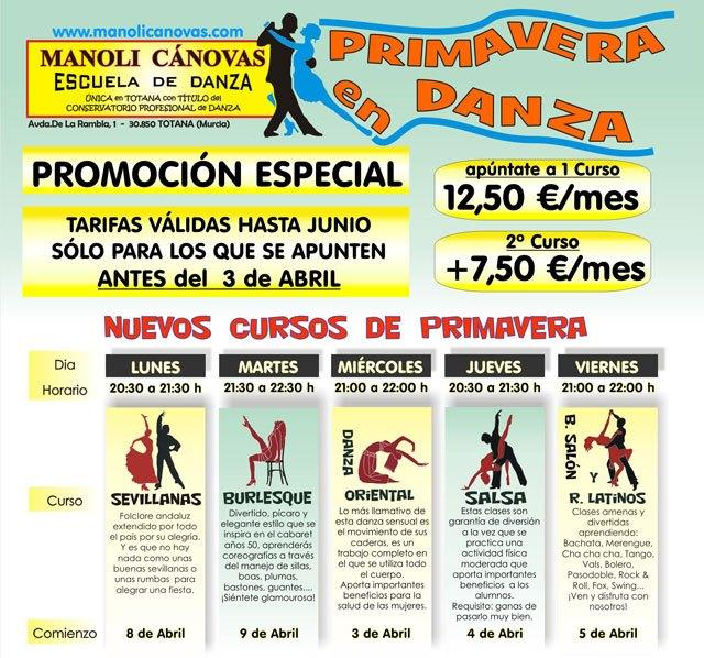 La Escuela de danza Manoli Cánovas pone en marcha una promoción especial de cara a esta primavera, Foto 1