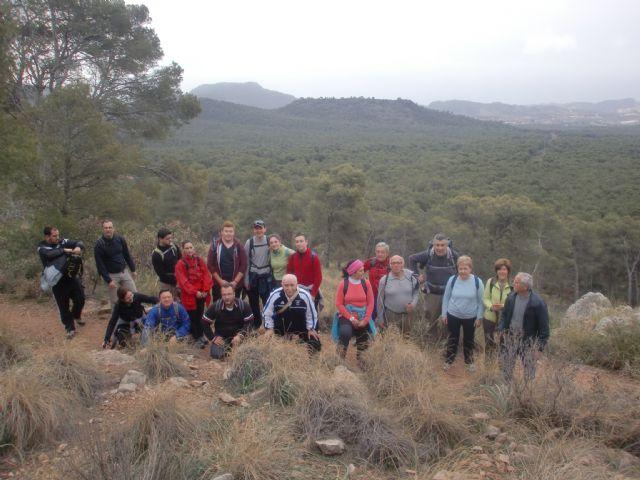 Un total de veintiún senderistas participaron el pasado domingo en una ruta que discurrió por Sierra Espuña, Foto 4