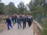 Un total de veintiún senderistas participaron el pasado domingo en una ruta que discurrió por Sierra Espuña
