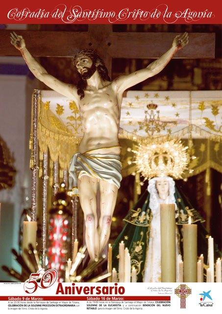 El próximo sábado comienzan los actos conmemorativos con motivo del 50 aniversario de la Cofradía del Santísimo Cristo de la Agonía, Foto 1