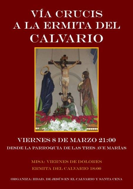 Mañana tendrá lugar el Vía Crucis penitencial a la ermita del Calvario, organizado por la Hdad. de Jesús en el Calvario y Santa Cena, Foto 2