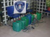 La Polic�a Local de Totana recupera varios bidones de gasoil, maquinaria y objetos procedentes de robos en zonas agr�colas