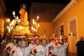 Un gran número de público arropa la procesión de Nuestro Padre Jesús Nazareno en Puerto de Mazarrón