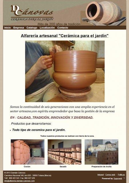Alfarería artesanal Damián Cánovas estrena página web, Foto 1