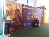 José Sáez represento al Club de Atletismo Totana en la maratón de París
