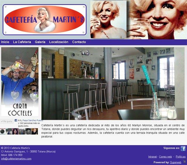 Cafetería Martin's se da a conocer en Internet con Superweb, Foto 1