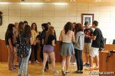 Se realiza una recepción institucional a los alumnos ingleses que están participando en un intercambio con estudiantes del IES Prado Mayor - 13