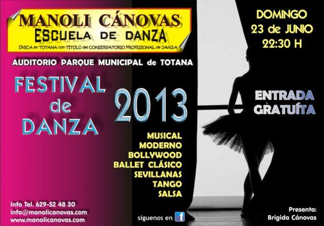 La Escuela de Danza Manoli Cánovas celebra su festival fin de curso el próximo 23 de junio, Foto 1