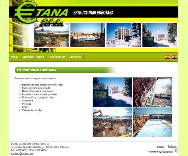 Estructuras Eurotana cambia su antigua página web por una Superweb para dotarla de más posibilidades, Foto 1