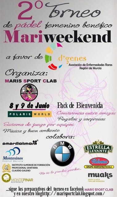 Maris Sport Clab organiza un torneo de pádel femenino a beneficio de D´Genes, Foto 3