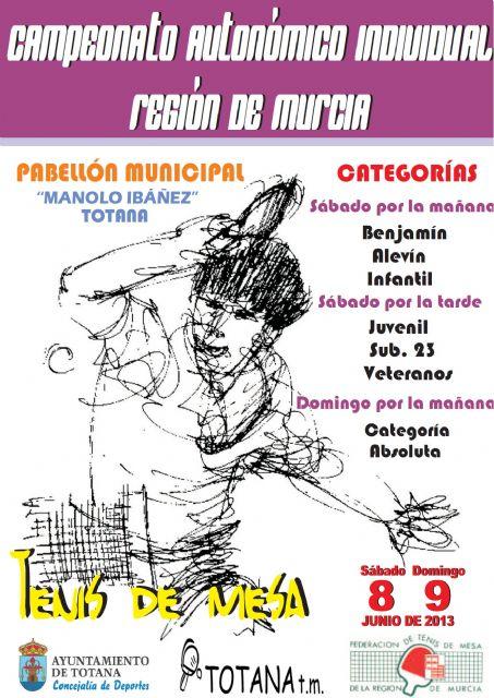 El Pabellón Municipal Manolo Ibáñez acoge este fin de semana el Campeonato Autonómico de Tenis de Mesa de la Región de Murcia, Foto 1