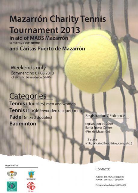 Torneo benéfico de tenis en apoyo de