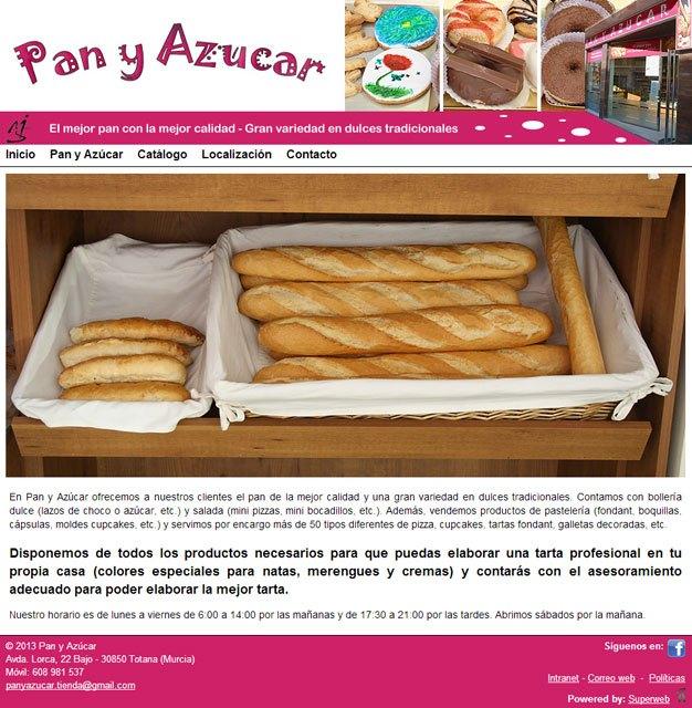 Pan y Azúcar estrena su nueva y apetitosa página web, desarrollada con Superweb, Foto 1