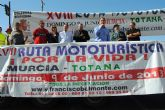 Bascuñana da la salida a los participantes en la XVIII Ruta Mototurística 2013