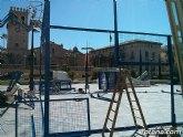 Instalan una pista de pádel portátil este fin de semana en la Plaza Balsa Vieja para dar a conocer y difundir esta modalidad deportiva
