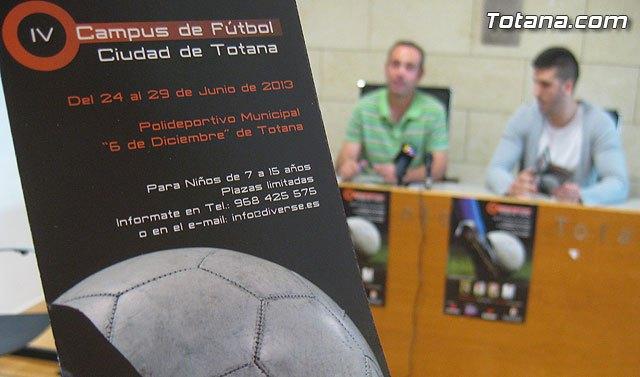 Últimas plazas del IV Campus de Fútbol Ciudad de Totana, Foto 2