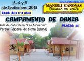 Campamento de danza de la escuela Manoli Cánovas en Las Alquerías los días 3-4-5 de septiembre