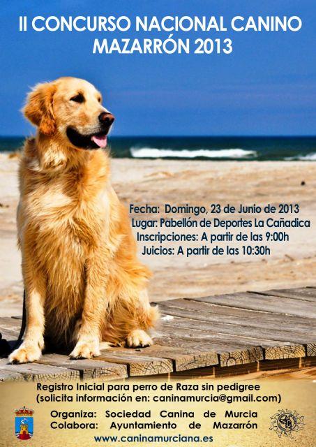 Este domingo Mazarrón celebra el II Concurso Nacional Canino, Foto 1