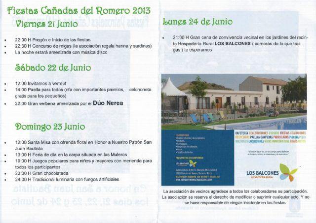 Cañadas del Romero rinde honores a San Juan Bautista a partir de este viernes, Foto 2