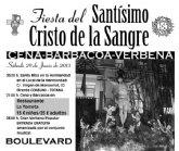 La Hermandad de Jesús y la Samaritana organiza la Fiesta del Santísimo Cristo de la Sangre