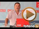 Rueda de prensa PSOE Totana sobre la no toma de posesión de los 2 nuevos concejales
