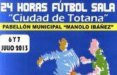 El torneo 24 horas de fútbol-sala Ciudad de Totana se celebra este próximo fin de semana
