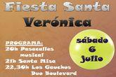 La fiesta de Santa Verónica será este sabado 6 de julio