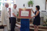 El ayuntamiento de Totana hace entrega del Título de Hijo Adoptivo a José Giner Crespo, Padre Lucas