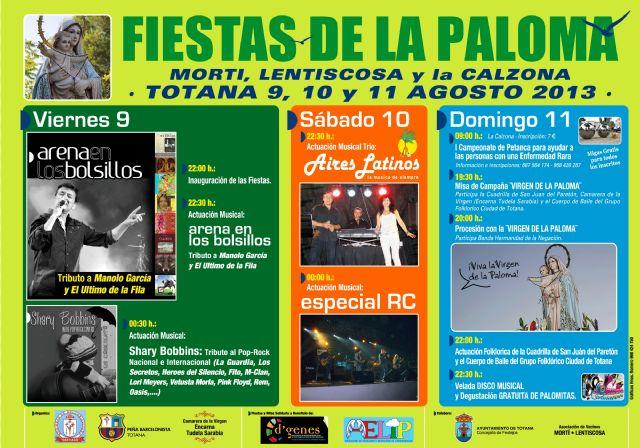 Las fiestas de La Paloma, que abarcan la zona de Mortí, Lentiscosa y la Calzona, arrancan esta noche con actuaciones musicales, Foto 1