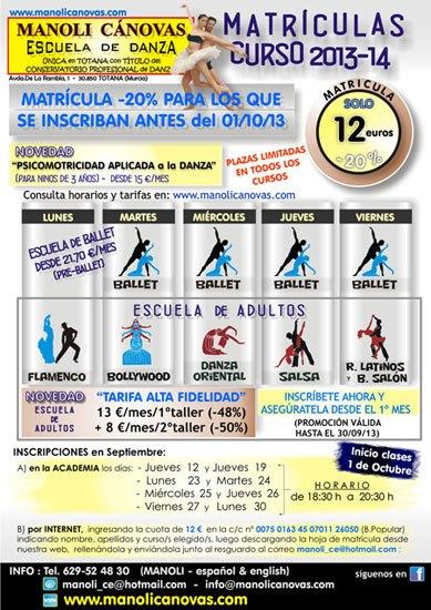 La Escuela de Danza Manoli Cánovas abre plazo de matrícula para el nuevo curso 2013-2014, Foto 1