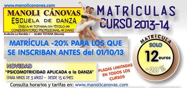 La Escuela de Danza Manoli Cánovas abre plazo de matrícula para el nuevo curso 2013-2014, Foto 2