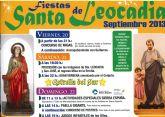 Del 20 al 22 de septiembre se celebran las fiestas de Santa Leocadia con diversas actividades
