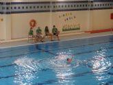70 niñas participan en la Exhibici�n de Nataci�n Sincronizada de los Juegos Deportivos del Guadalent�n