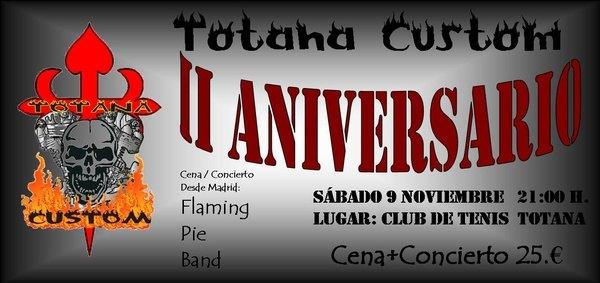 Totana Custom celebra su II aniversario con una Cena-Concierto, Foto 2