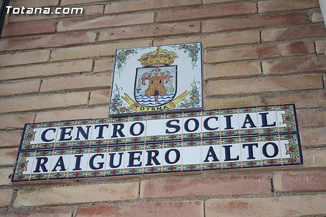 El próximo domingo 20 de octubre el centro social de El Raiguero Alto será denominado con el nombre de Julián Muñoz López, Foto 2