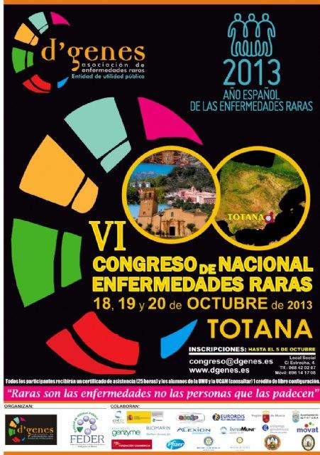 FEDER y la Asociación D´Genes celebran el VI Congreso Nacional de Enfermedades Raras en Totana, Foto 1
