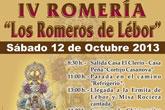 La IV Romería Los Romeros de Lébor tendrá lugar mañana sábado 12 de octubre