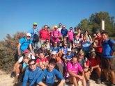 El club senderista de Totana realizó una ruta senderista por la vecina localidad de Alhama de Murcia
