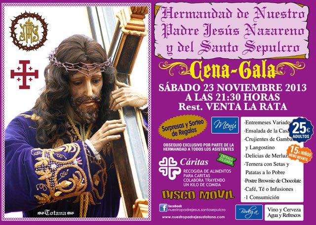 La Hdad. de Jesús Nuestro Padre Jesús Nazareno y Santo Sepulcro organiza su tradicional cena-gala el sábado 23 de noviembre, Foto 1