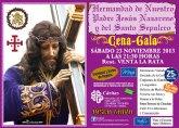 La Hdad. de Jesús Nuestro Padre Jesús Nazareno y Santo Sepulcro organiza su tradicional cena-gala el sábado 23 de noviembre