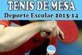 La concejalía de Deportes organiza este sábado 16 de noviembre la fase local de tenis de mesa de Deporte Escolar