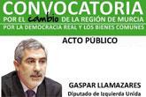 El acto de presentación en Totana de Convocatoria por el Cambio en la Región de Murcia tendrá lugar el viernes 22 de noviembre