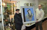 El artista Antonio Sanz dona un cuadro de Paco Rabal que se exhibir� en la Casa de Cultura