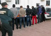 La Guardia Civil detiene a los seis integrantes de una banda dedicada a la sustracci�n de productos del campo