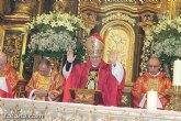El Obispo de la Diócesis de Cartagena preside la santa misa en la jornada de la festividad de la patrona de Totana