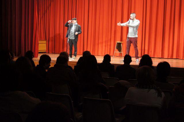 El monólogo Dos murcianos y un vespino aporta el toque de humor al programa de fiestas patronales, Foto 1